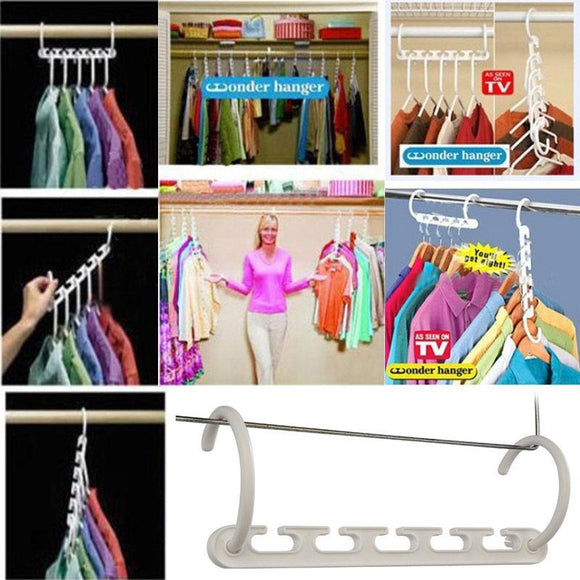 Wonder Hanger Triples Closet Space Cupboard Organizer - Shopodium
