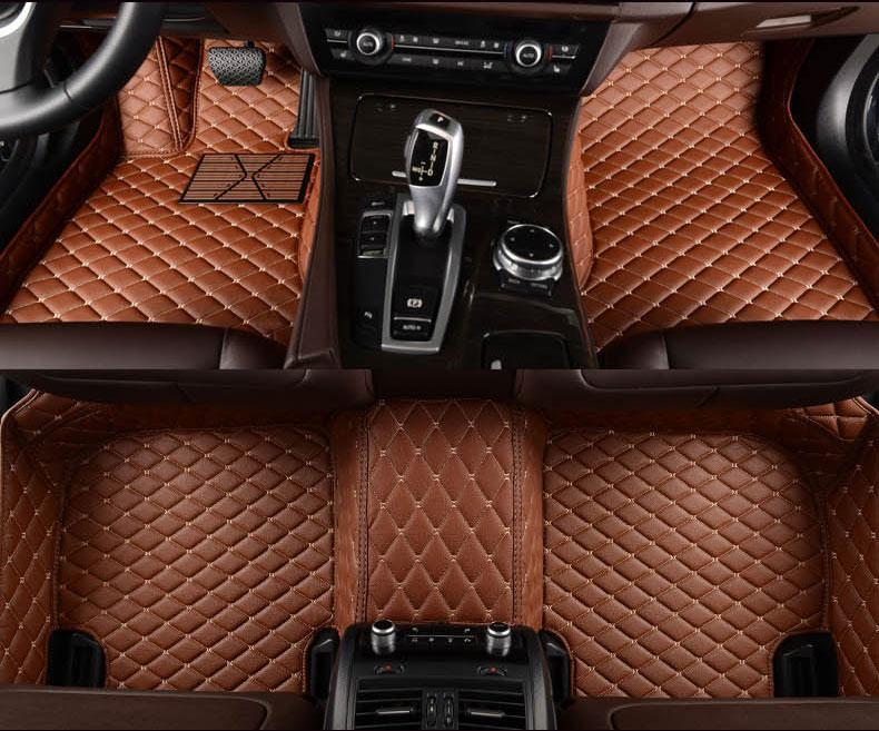 Luxury Floor Mat For BMW F10 F11 F15 F16 F20 F25 F30 F34 E60 E70 E90 X1 X3 X4 X5 X6 Z4 - Shopodium