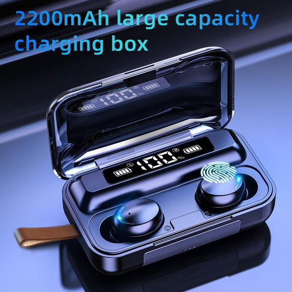 TWS 5.0 Bluetooth Earphones With 2200mAh Charging Box - Shopodium