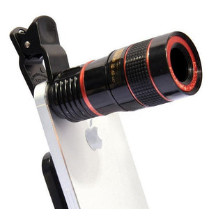 Universal 12X Telephoto Zoom Lens for Mobile Phones [iOS and Android]