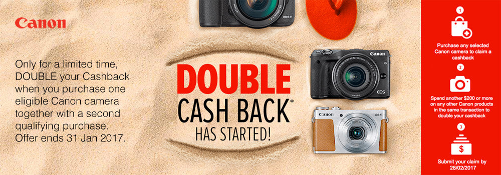 Get more this summer with Canon Double Cashback