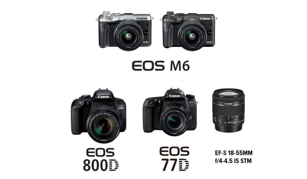 New Canon Product Announcement - EOS M6, EOS 800D, EOS 77D, EF-S 18-55mm f/4-5.6 IS STM & Accessories