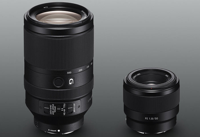 Just Arrived: Sony FE 50mm F1.8 & 70-300mm F4.5-5.6 Lenses