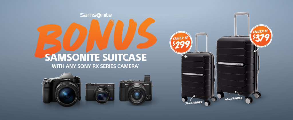 Bonus Samsonite Suitcase Promotion