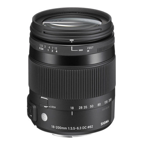 Sigma 18-200mm F3.5-6.3 DC Macro OS HSM Contemporary Lens - Canon Mount