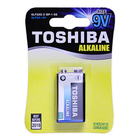 Toshiba 9V Blue Line Alkaline Battery
