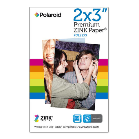 "Polaroid 2 x 3"" Premium ZINK Photo Paper - 30 Pack"