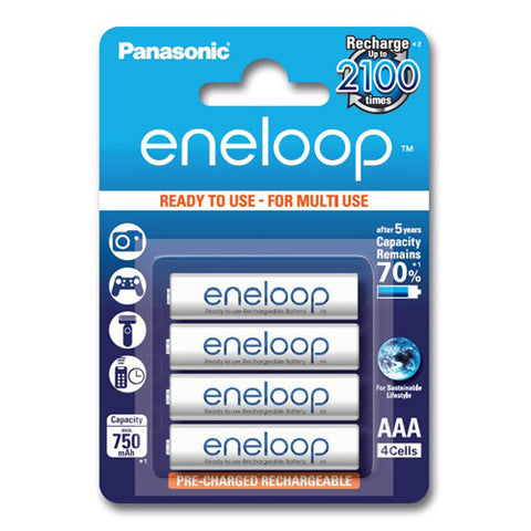 Panasonic Eneloop Rechargeable AAA Batteries - 4 Pack
