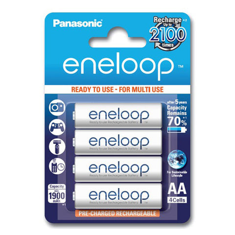 Panasonic Eneloop Rechargeable AA Batteries - 4 Pack
