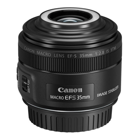 Canon EF-S 35mm f/2.8 IS STM Macro Lens with Macro Lite