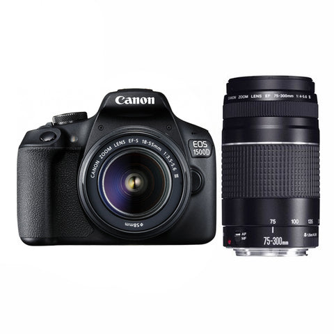 Canon EOS 1500D Twin Lens Kit with 18-55mm & 75-300mm Lenses