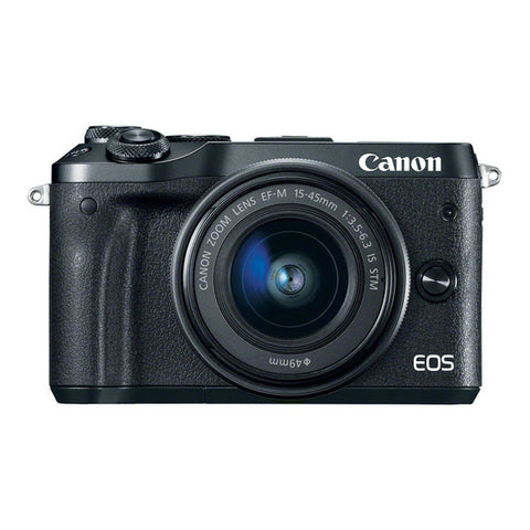 Canon EOS M6 Single Lens Kit with 15-45mm Lens - Black