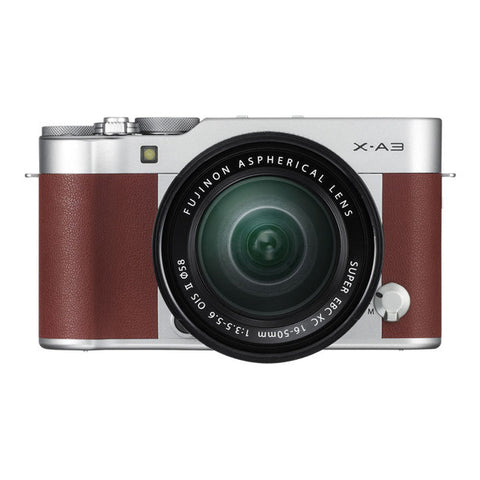 Fujifilm X-A3 Single Lens Kit with XC 16-50mm Lens - Brown