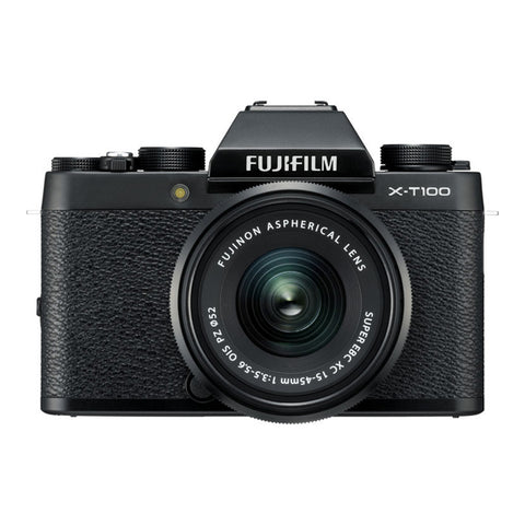 Fujifilm X-T100 Single Lens Kit with XC15-45mm Lens - Black