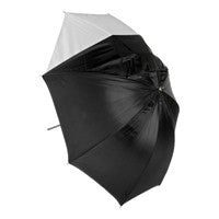 "Glanz 36"" Convertible Umbrella - White with Removable Black Backing"