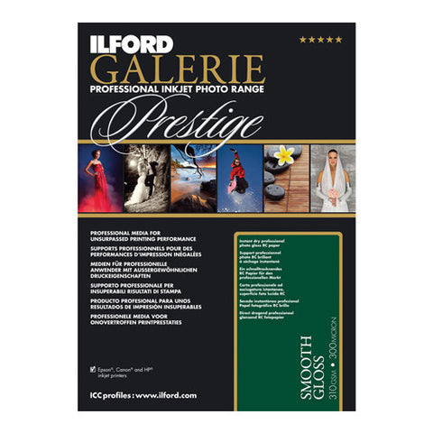 Ilford Galerie Prestige Smooth Gloss Photo Paper 310gsm - 25 x A4 Sheets