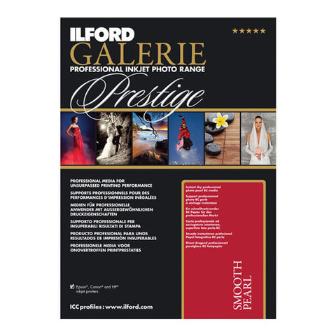 Ilford Galerie Prestige Smooth Pearl Paper 310gsm - 25 x A4 Sheets