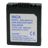 Inca Panasonic CGA-S002 Replacement Battery Pack - CGAS002