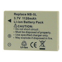 Inca Canon NB-5L Replacement Battery Pack - NB5L
