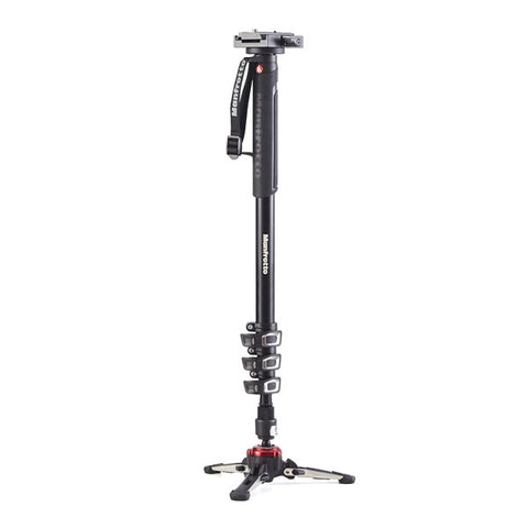Manfrotto XPRO MVMXPROA4577 Aluminium Fluid Video Monopod with 577 Sliding Plate & FLUIDTECH Base