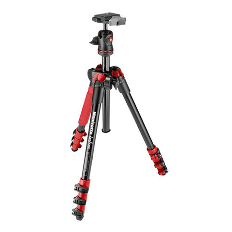 Manfrotto Befree Tripod Kit with Ball Head - Red