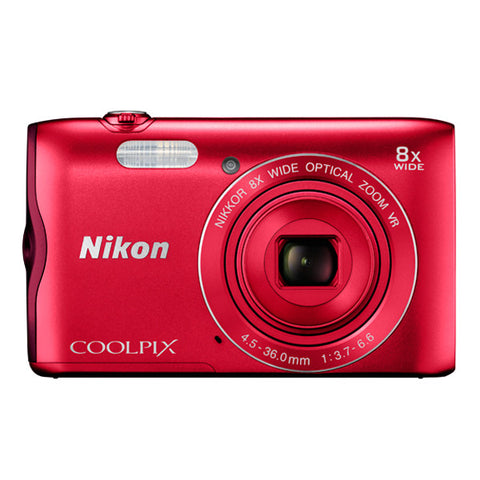 Nikon COOLPIX A300 Digital Camera - Red