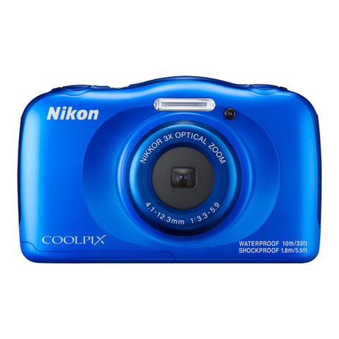 Nikon COOLPIX W100 Waterproof Digital Camera - Blue