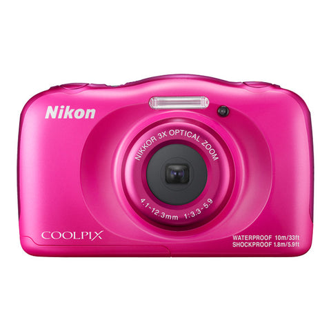 Nikon COOLPIX W100 Waterproof Digital Camera - Pink