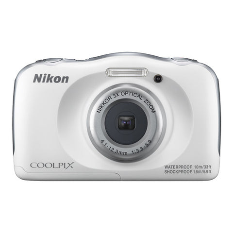 Nikon COOLPIX W100 Waterproof Digital Camera - White