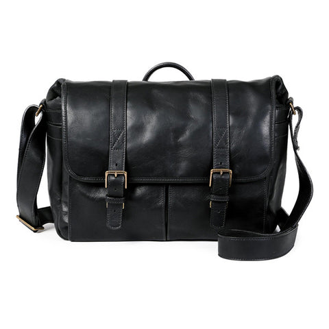 ONA Brixton Messenger Bag - Black Italian Leather