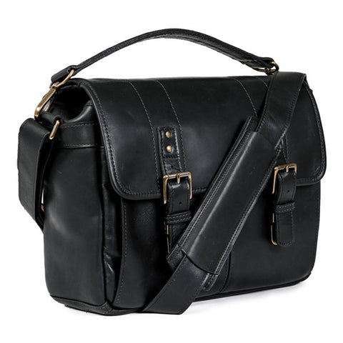ONA Prince Street Messenger - Black Italian Leather