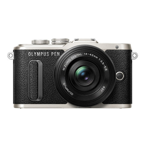 Olympus PEN E-PL8 Single Lens Kit with 14-42mm Lens - Black