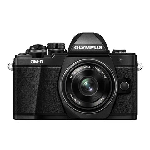Olympus OM-D E-M10 Mark II Single Lens Kit with 17mm f/1.8 Lens - Black