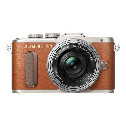 Olympus PEN E-PL8 Single Lens Kit with 14-42mm Lens - Brown