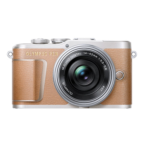 Olympus PEN E-PL9 Single Lens Kit with 14-42mm Lens - Brown