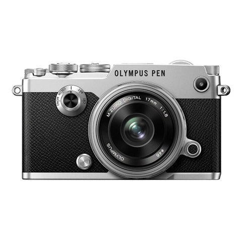 Olympus PEN-F Single Lens Kit with 17mm Lens - Silver
