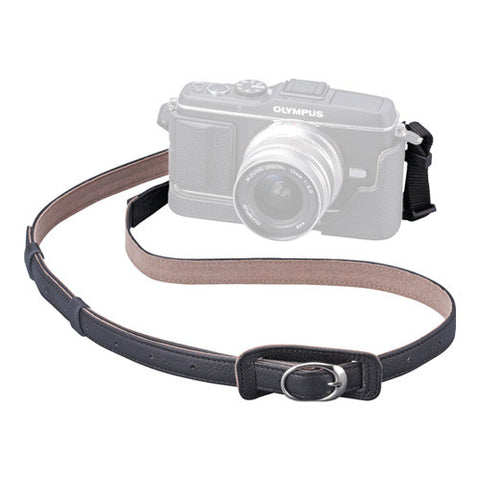Olympus CSS-S109LL II Black Genuine Leather Camera Strap