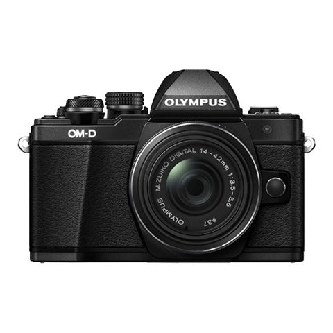 Olympus OM-D E-M10 Mark II Single Lens Kit with 14-42mm EZ Lens - Black
