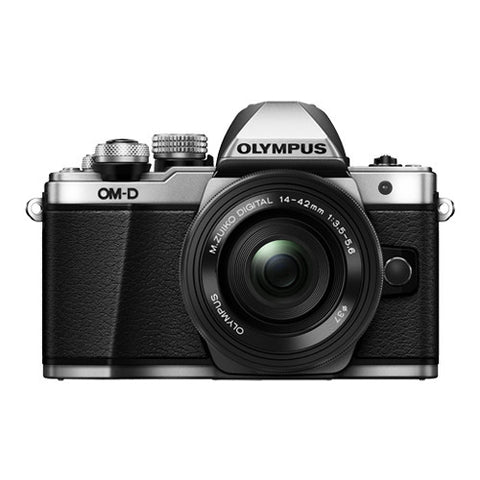 Olympus OM-D E-M10 Mark II Single Lens Kit with 14-42mm EZ Lens - Silver