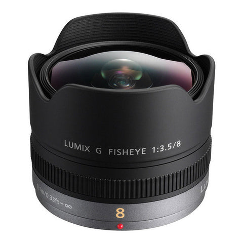 Panasonic Lumix G Fisheye 8mm F3.5 Lens - H-F008E