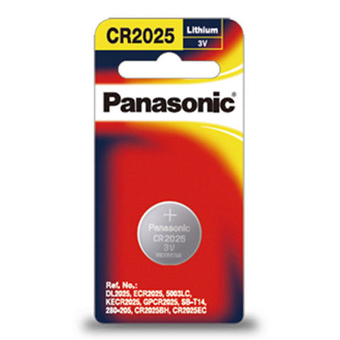 Panasonic CR2025 Lithium Coin Battery - CR-2025PG/1B