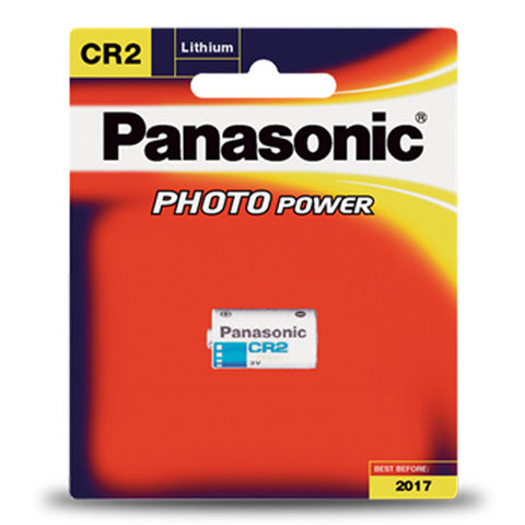 Panasonic CR2 3V Photo Lithium Battery - CR-2W/1BE