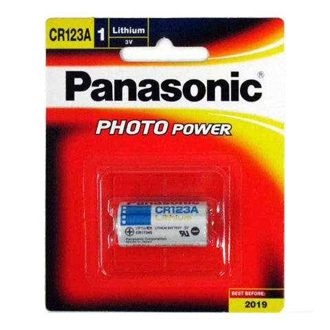 Panasonic CR123A 3V Photo Lithium Battery - CR-123AW/1B