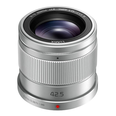 Panasonic LUMIX G 42.5mm F1.7 ASPH. POWER O.I.S. Lens - Silver