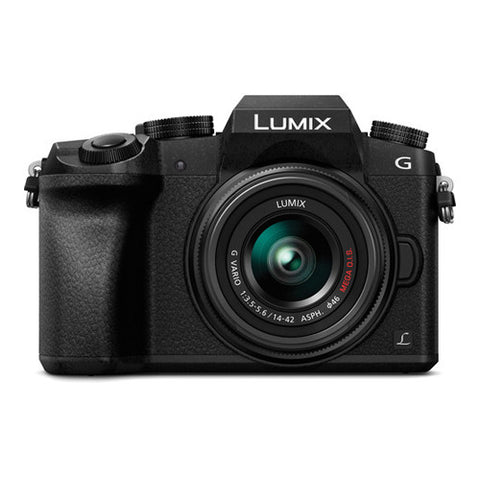 Panasonic LUMIX DMC-G7 Single Lens Kit with 14-42mm Lens - Black