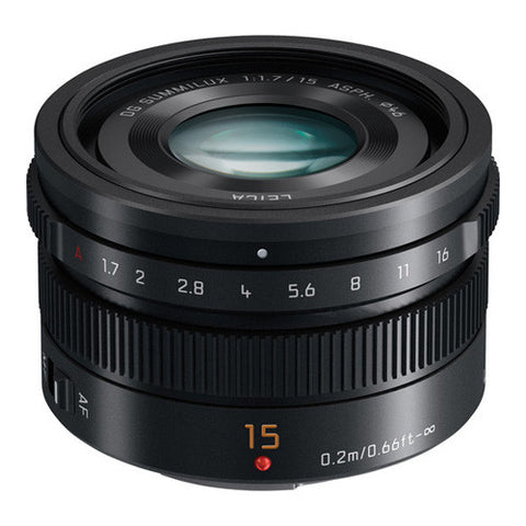 Panasonic Leica DG Summilux 15mm F1.7 ASPH. Lens - Black