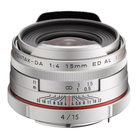 Pentax HD DA 15mm F4 ED AL Limited Lens - Silver
