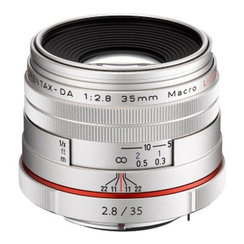 Pentax HD DA 35mm F2.8 Macro Limited Lens - Silver