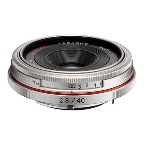 Pentax HD DA 40mm F2.8 Limited Lens - Silver