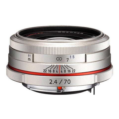 Pentax HD DA 70mm F2.4 Limited Lens - Silver